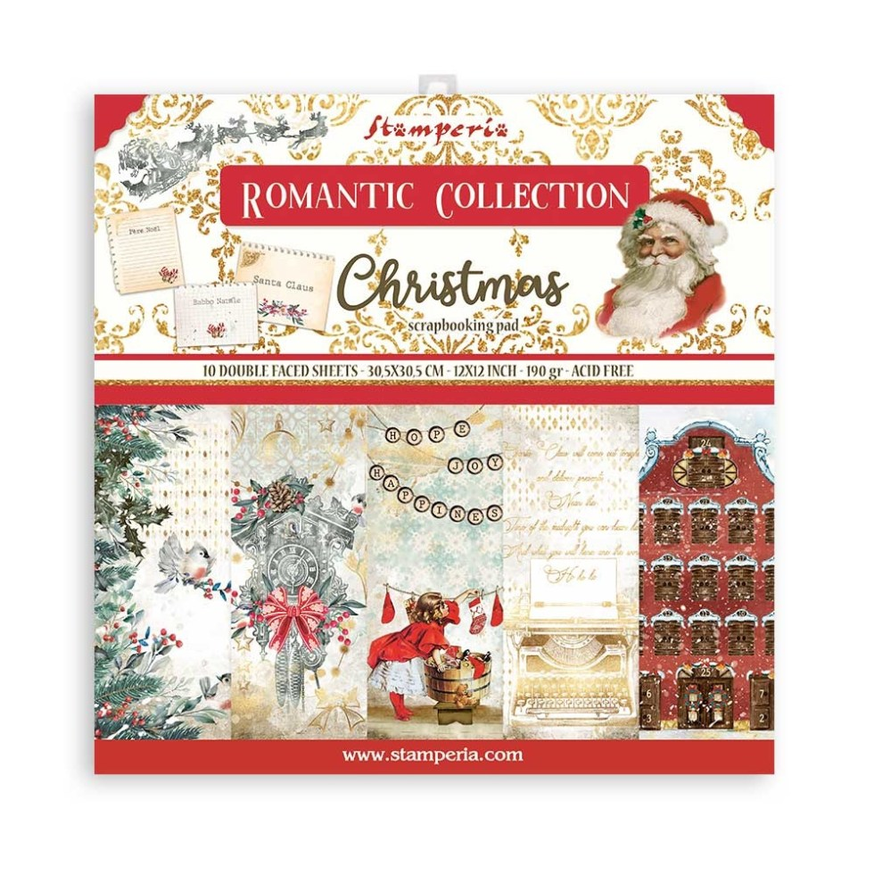 Stamperia Romantic Christmas 12×12 Inch Paper Pack