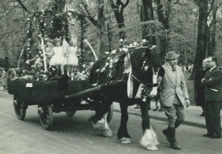 Horse drawn lorry in 1963