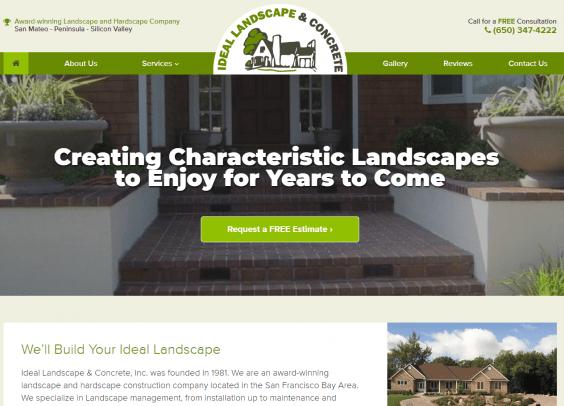 Ideal Landscape Design Is A Perfect Website Solution Web Design