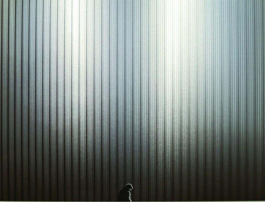 "Shane Arsenault ""The Walking Man"" 13.75"" x 11"" Print on Aluminium"