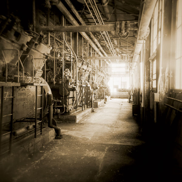 "George Webber - Turner Valley Gas Plant, 2013 9"" x 9"" Image Photograph"
