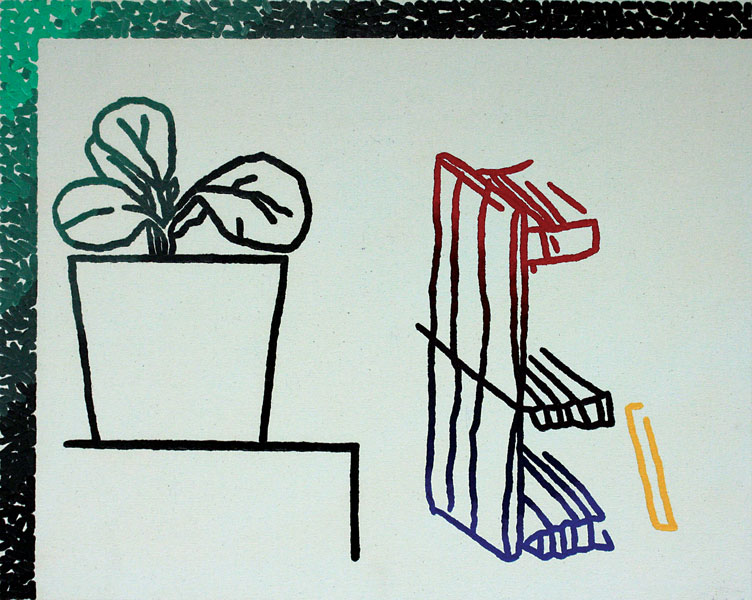 "Nate McLeod   ""Plant and Bench""  2015,   Silent Auction Lot #125"