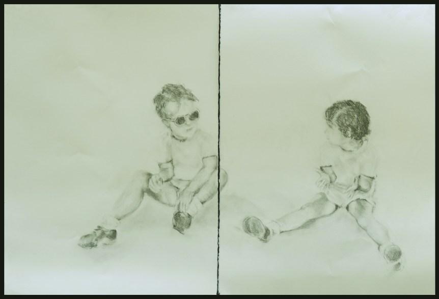 "Rose Braun ""Twins"" 20"" x 22"" (each) Grraphite on Paper"