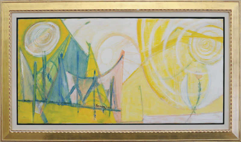 "Takao Tanabe  ""Mountain  Landscape, 1951"" Live Auction Lot #24"