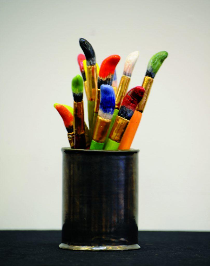 """Victor Cicansky """"Studio Bouquet"""" 12.5"""" x 7.5"""" x 7.5"""" Glazed Clay"""