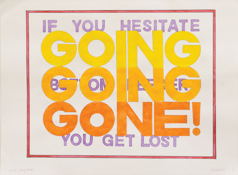 "John Will   ""GOING GOING GONE!""   Live Auction Lot #27"