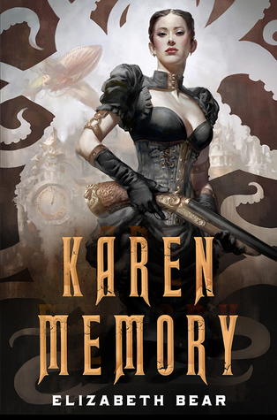 "Cover of Elizabeth Bear's ""Karen Memory."""