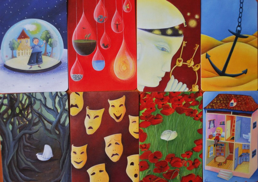Eight sample images from Dixit