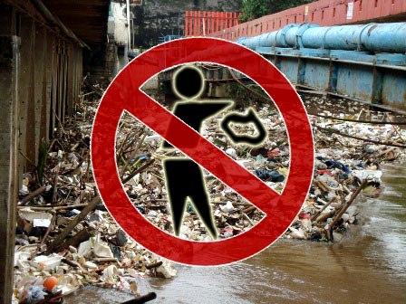 Waspada Banjir, BLH Minta Warga Hentikan Buang Sampah Di Sungai