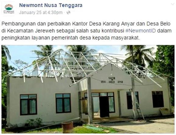 Newmont Dinilai Tidak Kooperatif Soal CSR