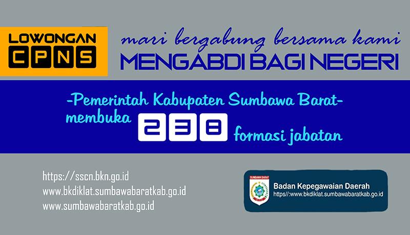 Pendaftaran CPNS KSB Tahun 2018 Dibuka