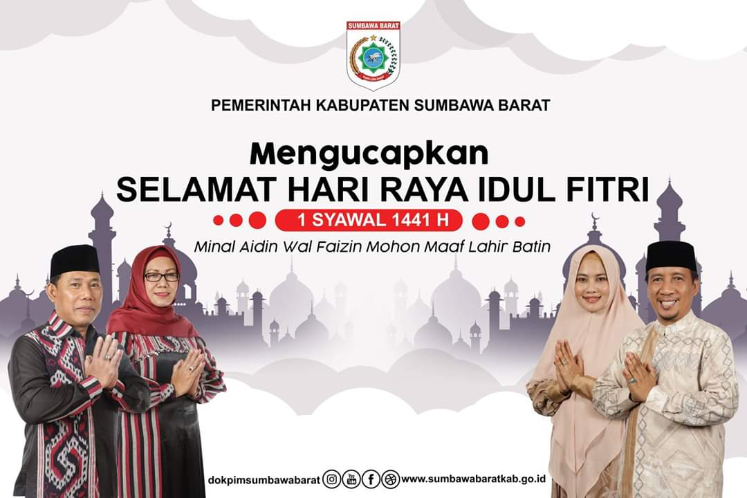 Bupati & Wakil Bupati KSB Mengucapkan Selamat Idul Fitri 1441 H