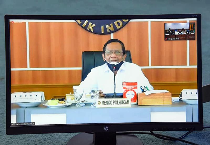 Mahfud MD Ancam Peserta Pilkada NTB yang Tidak Patuh Protokol Kesehatan Covid-19