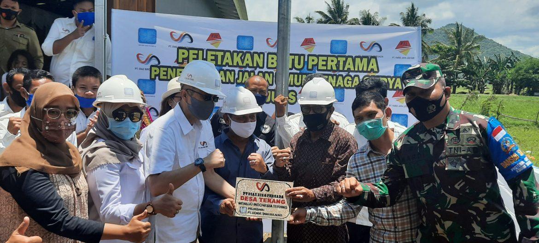 PT Diaz Biro Persada Gelar Launching dan Peletakan Batu Pertama PJU-TS di Sumbawa Barat