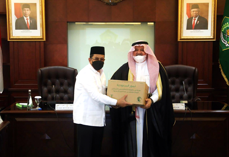 Arab Saudi Sumbang 100 Ton Kurma Untuk Dibagikan Ke Masjid dan Mushalla di Indonesia
