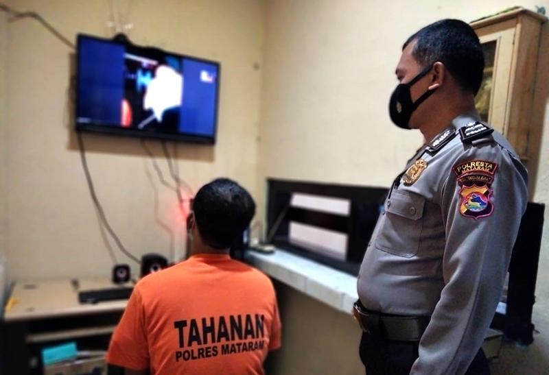 Polresta Mataram Sediakan Layanan Besuk Tahanan Daring