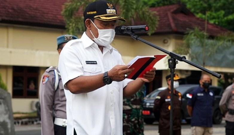 Apel Gelar Pasukan Operasi Ketupat Rinjani 2021 Bupati Sumbawa Barat