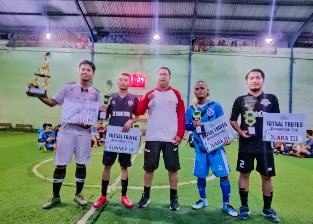 Turnamen Futsal Trofeo Ramadhan Cup Ditutup, Sanak FC Raih Champion