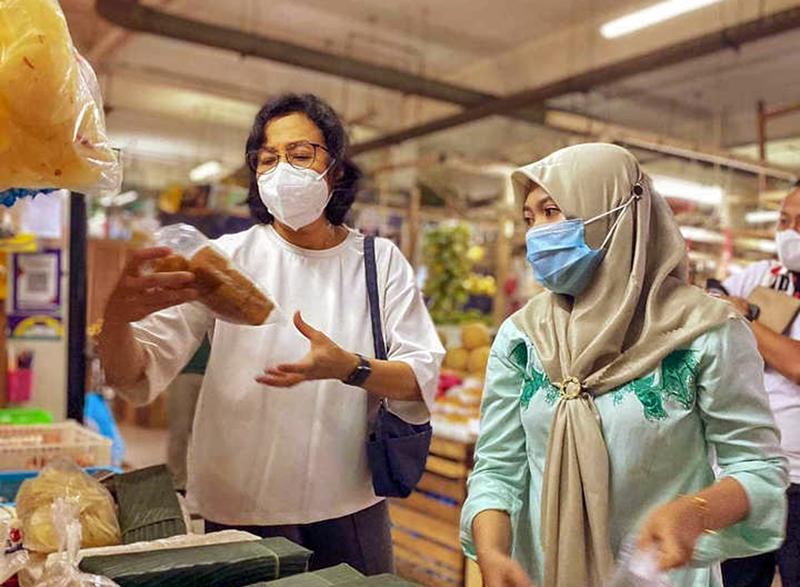 Luruskan Soal Isu Pajak Sembako, Menteri Keuangan Turun Langsung Ke Pasar