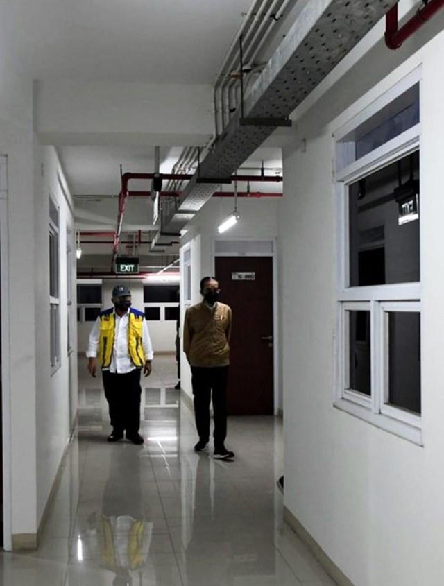 Presiden Jokowi Tinjau Fasilitas Kesehatan Untuk Penanganan Penderita Covid 19 Rusun Pasar Rumput Jakarta 1