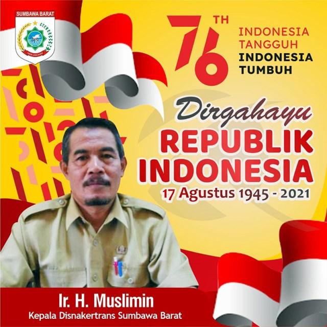 Iklan Dirgahayu RI Ke 76 Indonesia Tangguh Indonesia Tumbuh Disnakertrans KSB