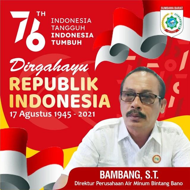 Iklan Dirgahayu RI Ke 76 Indonesia Tangguh Indonesia Tumbuh PDAM KSB