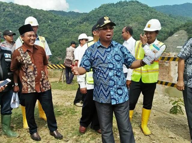 Kunjungan Kerja Wakil Gubernur NTB Muhammad Amin di Proyek Bendungan Bintang Bano Pada Tahun 2017