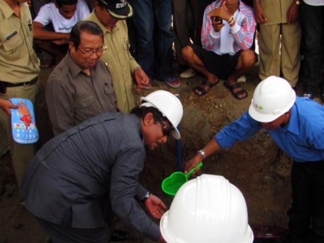 Peletakan Batu Pertama Proyek Bendungan Bintang Bano Pada Tahun 2010