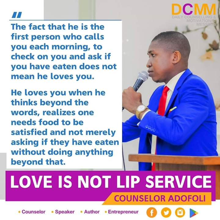 You are currently viewing LOVE IS NOT LIP SERVICE  Written by Counselor Adofoli