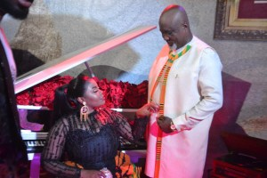 Empress Gifty Adorye slays with her husband on VGMA red carpet