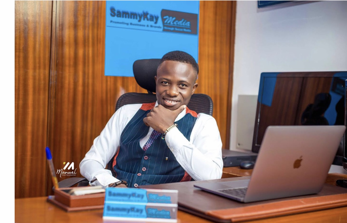 I'm committed to redefining blogging through music-Sammy Kay