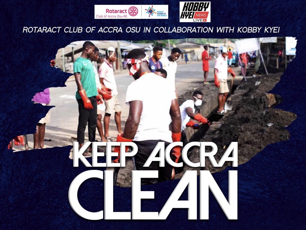 """Rotaract Club of Accra in Collaboration with Kobbykyeinews to embark on project and """"Keep Accra Clean"""" at the Kaneshie Lorry Park"""