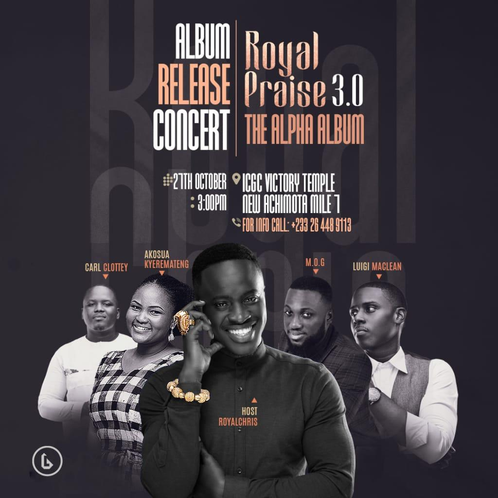 "Royal Chris set to release ""The alpha album"" with a concert."