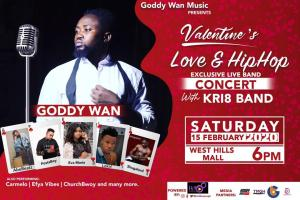 It's Valentine's Love and Hip Hop With Goddy Wan And The KRI8 Band