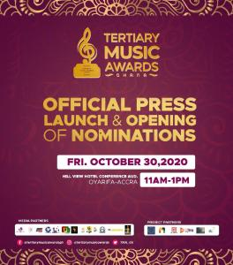 Tertiary Music Awards To Be Launched On October 30