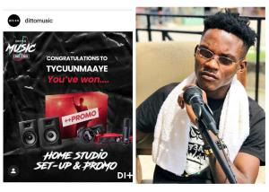 TyCuun Takes Home Studio Setup After Emerging Grand Winner Of Ditto Music Challenge