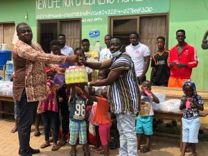 Dada Hafco Makes Donation At New Life Children's Home