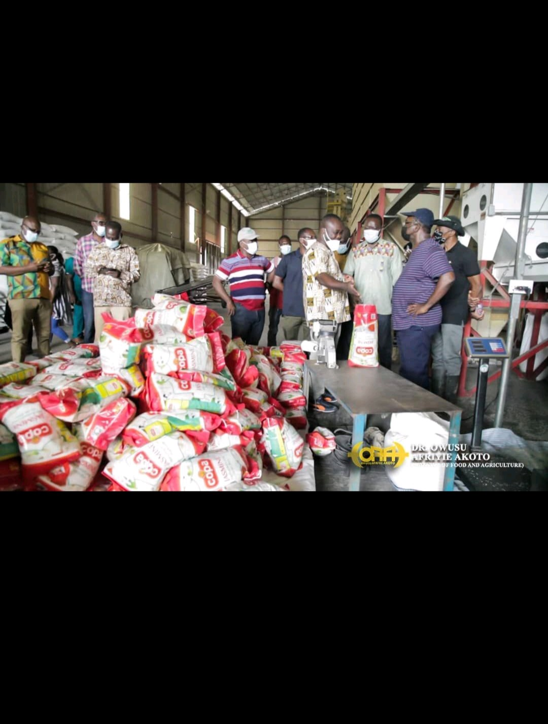 You are currently viewing Agric Minister Visits Gadco Rice Mill In The Volta Region