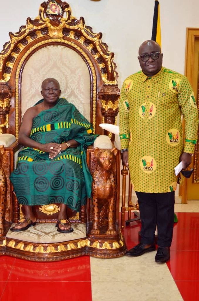 You are currently viewing CEO of Ghana Free Zones Authority Pays Courtesy Call On Asantehene