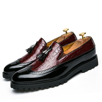 Men Loafers Formal Business Leather Pointed Wedding Shoes
