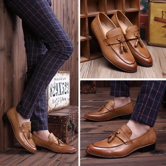 Fashion Men British Bullock Shoe Leather Casual Shoe