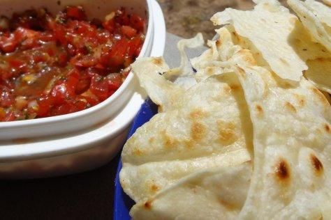 Chips in der Pfanne backen