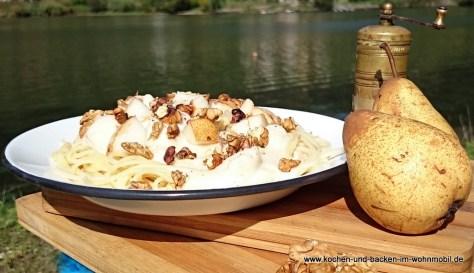 Käsesauce mit Birnen http://www.kochen-und-backen-im-wohnmobil.de