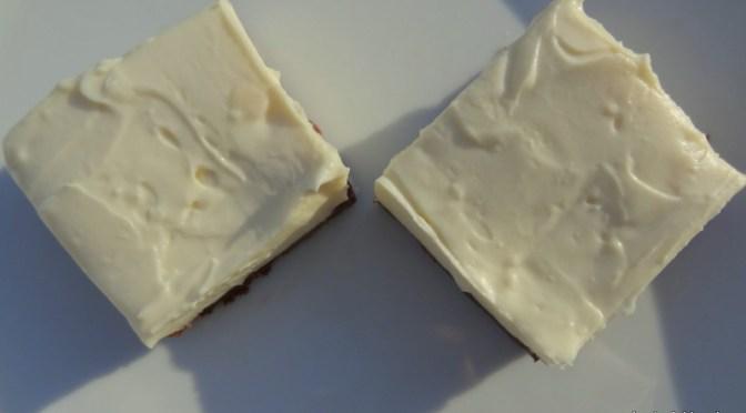 Käsekuchen mit weisser Schokolade