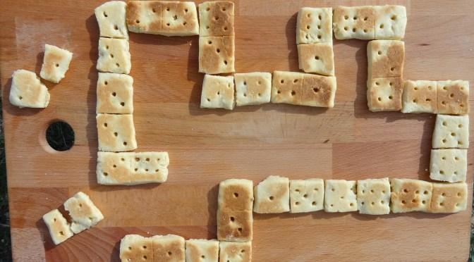 Domino-Shortbread aus der Pfanne