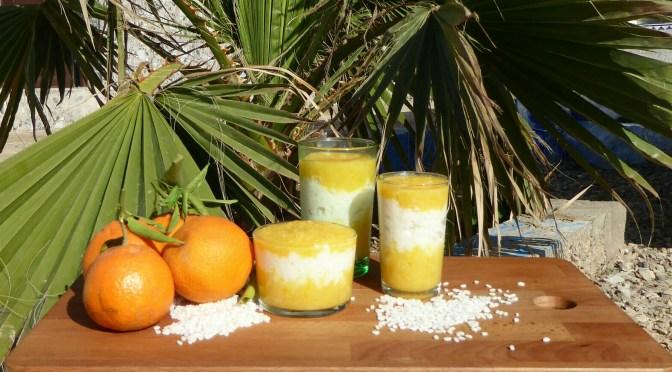Milchreis mit Mandarinen-Ingwer-Kompott