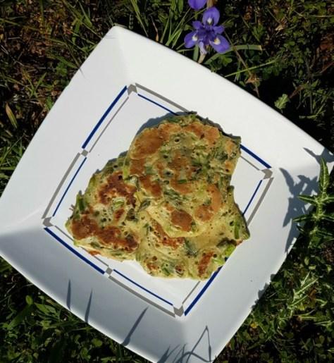 Herzhafte Pancakes mit Spargel