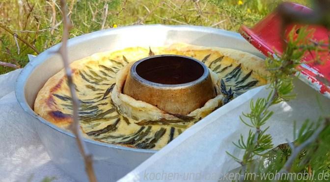 Spargel Quiche aus dem Omnia Backofen