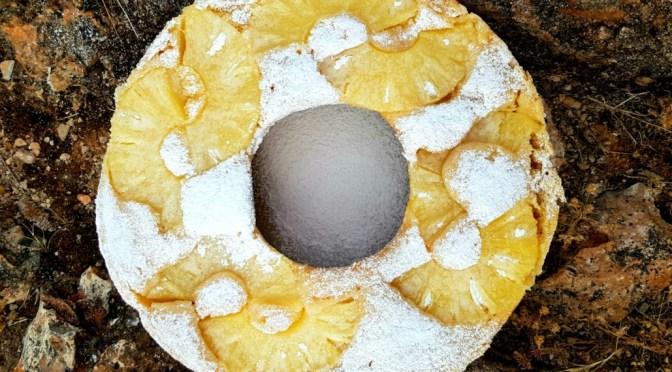 Saftiger Ananaskuchen aus dem Omnia Camping Backofen
