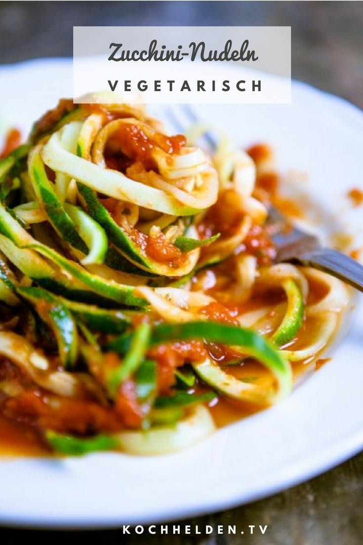 Zucchini-Nudeln - www.kochhelden.tv